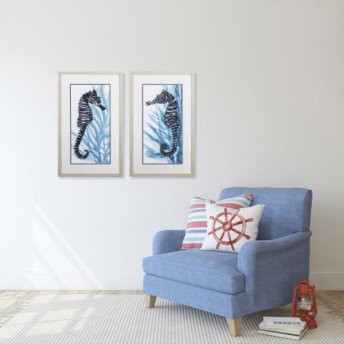 Zebra Seahorse- Set of Two lifestyle