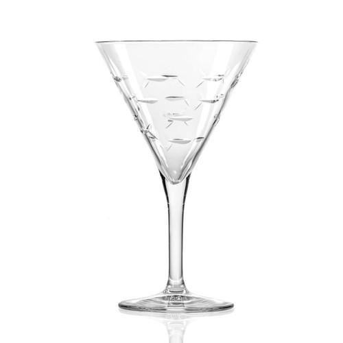 School of Fish Martini Glasses- Set of 4 - single