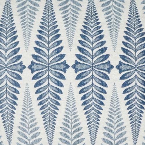 Jantar Tile Indigo Blue Pillow close up