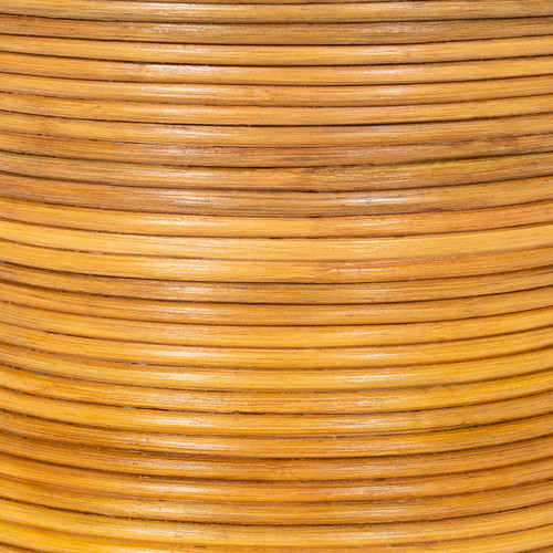 Balinese Natural Rattan End Table close up