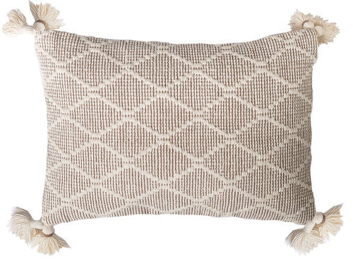 Cecilia Driftwood and Cream Pillow
