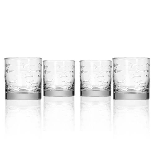 School of Fish Rocks Glasses- Set of 4