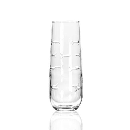 School of Fish Stemless Flute Glasses- Set of 4 single image