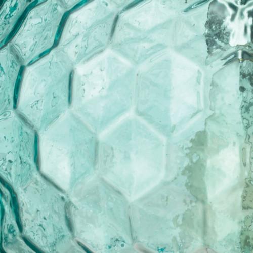 Clark Pendant in Aqua Glass close up