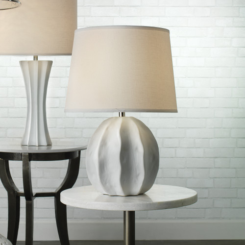 Urchin Table Lamp in Matte White lifestyle