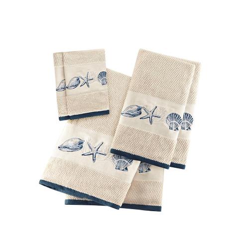 Bayside Shells Embroidered Bath Towel Set