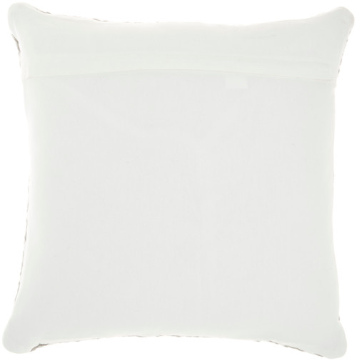 Woven Braided Geometric Square Pillow- Grey back