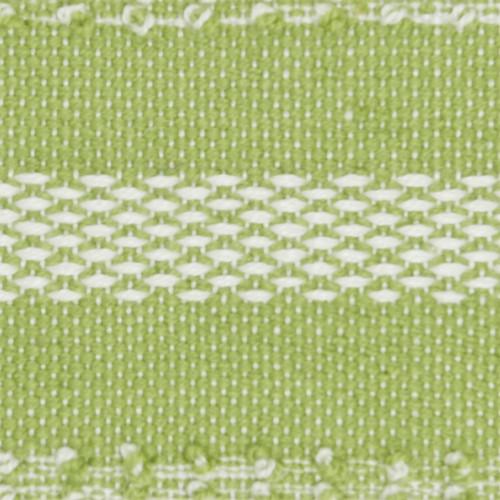 Woven Stripes Decorative Green Pillow - Square close up