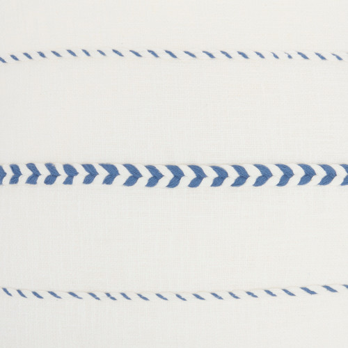 Life Styles Braided Stripes Tassel Blue Throw Pillow close up