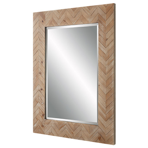 Demetria Wooden Framed Mirror angle view