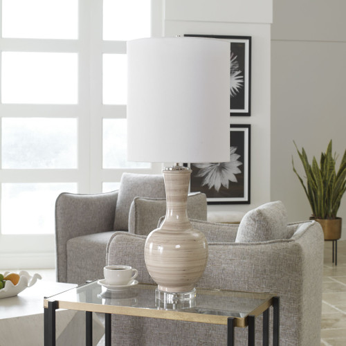 Dune Striped Table Lamp room 1