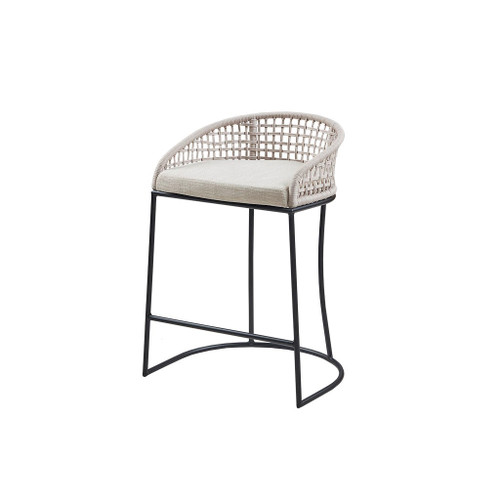 San Clemente Woven Counter Stool angle view