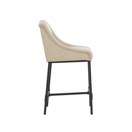 Boca Cream Upholstered Counter Stool side view