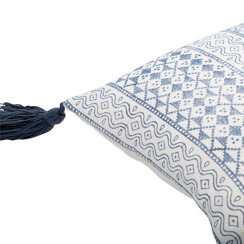Catalina Bay Pillow with Tassels corner close up
