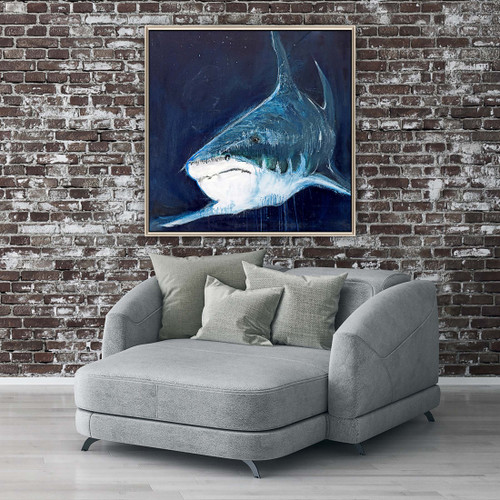 The Great White Ocean Canvas room example