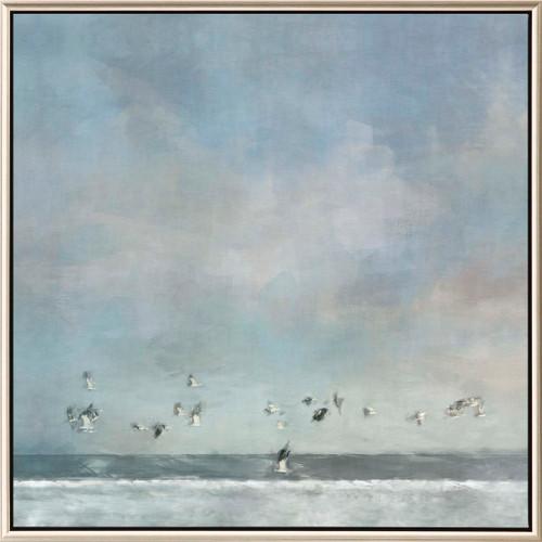 Shoreline Birds Passing Framed Print