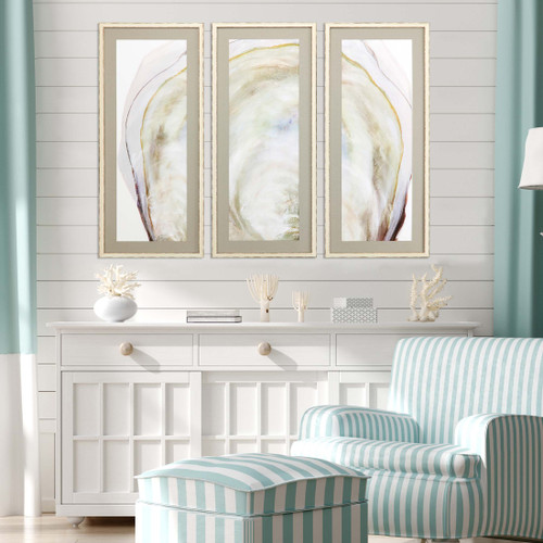 Oyster Shell Three-Piece Art Set room view
