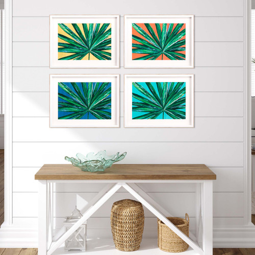 Bold Tropical Palms - Set of Four room view