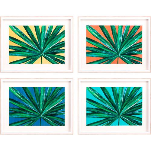 Bold Tropical Palms - Set of Four