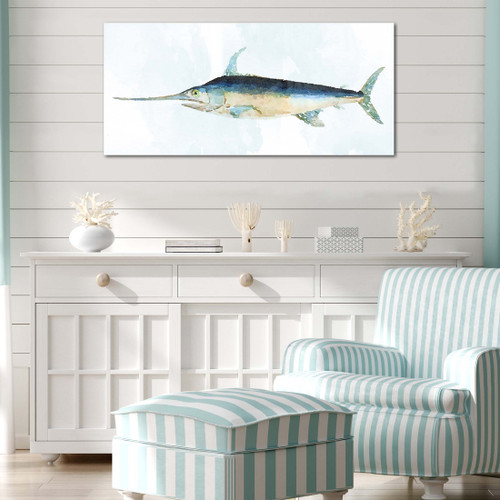 Swordfish Gallery Wrapped Canvas room example
