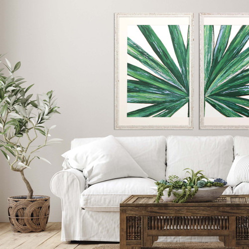Palm Frond I Tropical Framed Giclee Art room example