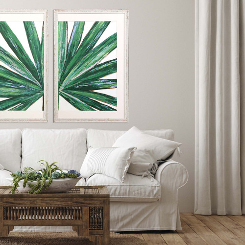 Frond II Tropical Framed Giclee Art shown with Frond I