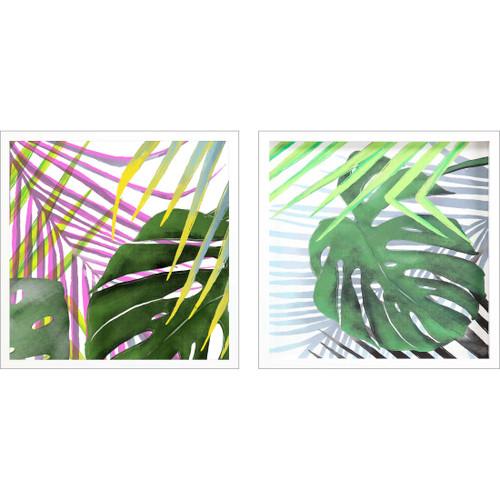 Tropic Palms I Art- Set of Two