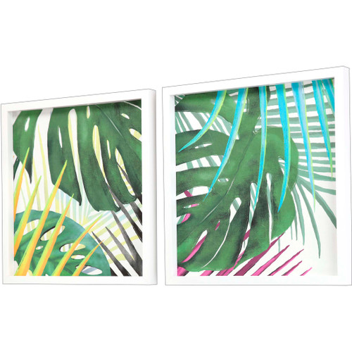 Tropic Palms II- Set of Two side