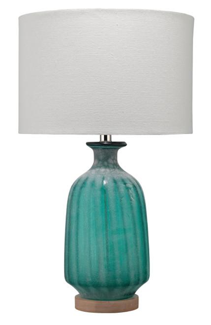 Sanibel Aqua Frosted Glass Table Lamp
