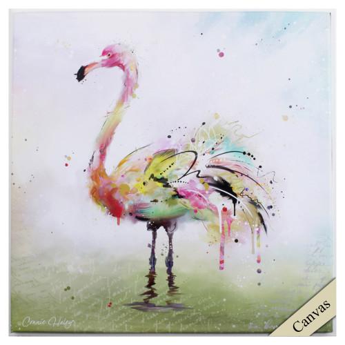 Radiant Flamingo Canvas I