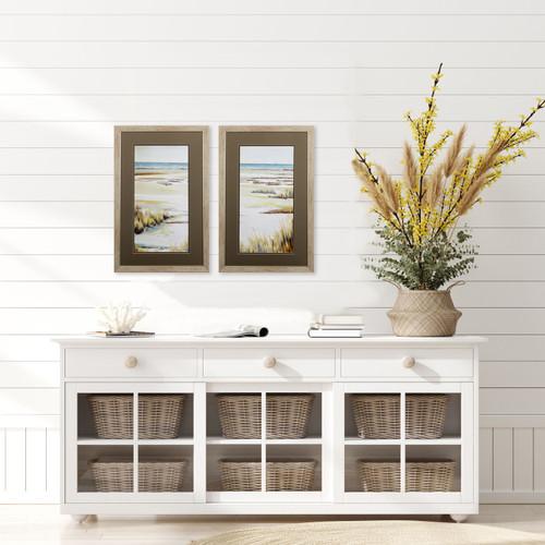Golden Dunes Panel Prints room example