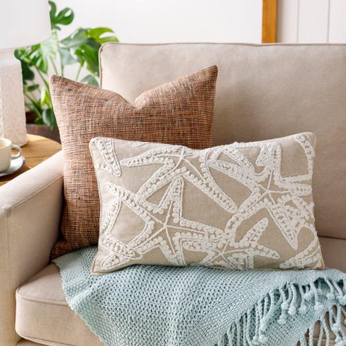 Maricopa Linen Starfish Oblong Pillow room view