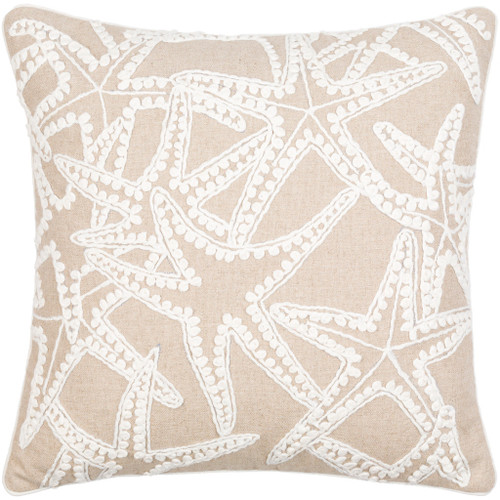 18 x 18 Maricopa Linen Starfish Pillow