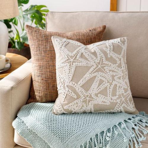 18 x 18 Maricopa Linen Starfish Pillow room view