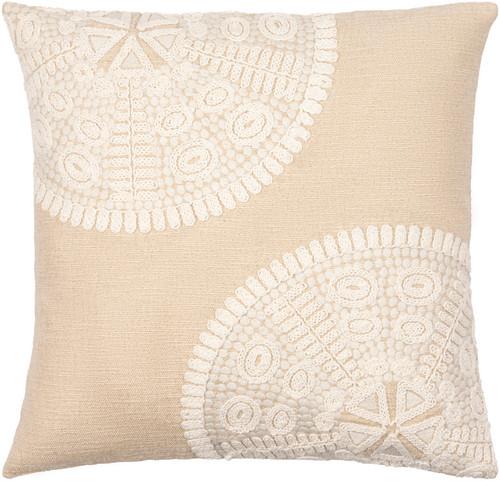 Maricopa 18 x 18 Linen Sand Dollar Pillow