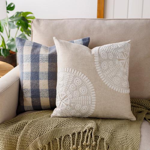 Maricopa 18 x 18 Linen Sand Dollar Pillow room view