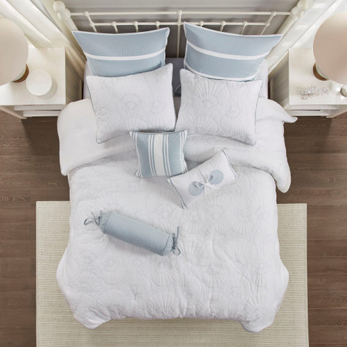Crystal Blue Beach Bedding Set - King Size view 3