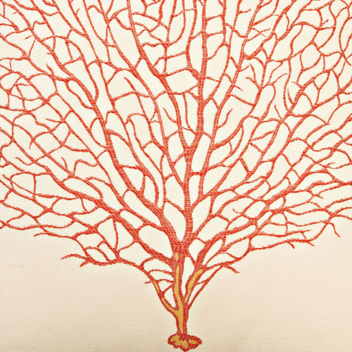 Coral Sea Fan Luxury Pillow close up