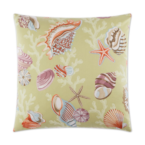 Coral and Shells Beach Luxury Pillow