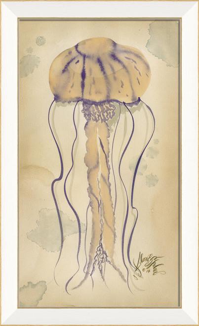 Purple Jellyfish Coastal Wall Art