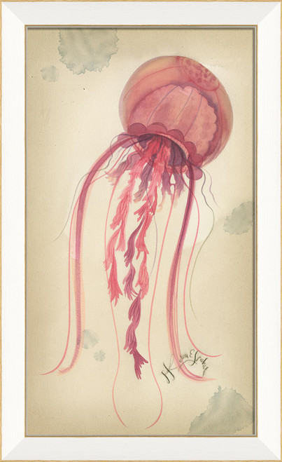 Shell Pink Jellyfish Coastal Wall Art