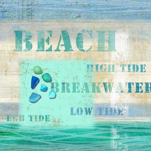 Beach Words Coastal Art
