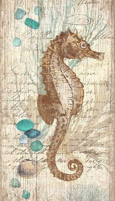 Coastal Collage Seahorse Wall Art