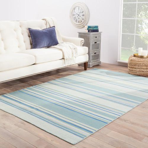 Kiawah Island Striped Wool Rug room
