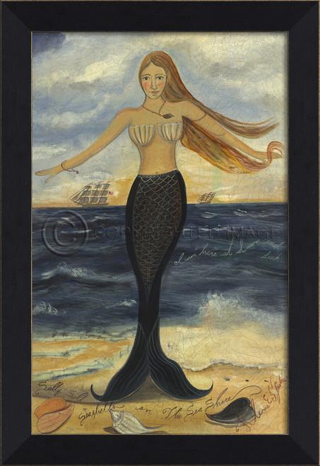 Here at Dawn and Dusk Mermaid Small Wall Art