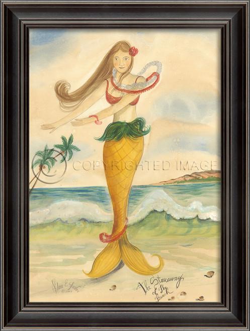 Stowaway of the Beach Mermaid Wall Art