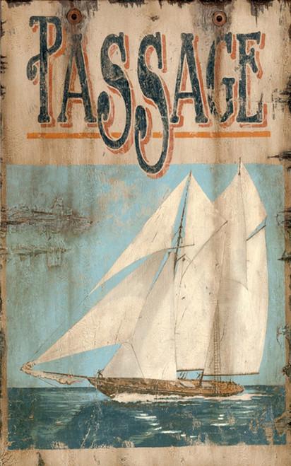 Sailing Passage Custom Beach Art Sign