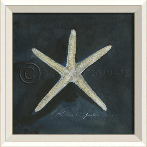 White Cottage Seashell Art No. 1