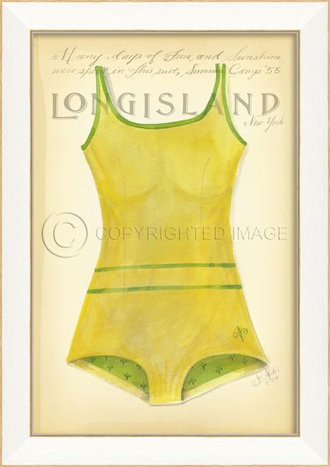 Vintage Swimsuit Art - Long Island