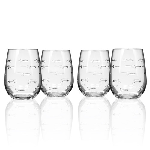 School of Fish Stemless Tumblers - Set of 4 group shot